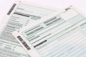 Form of income tax return — Stock Photo