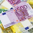 Different Euro banknotes from 5 to 500 Euro — Stock Photo #64534001