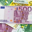 Different Euro banknotes from 5 to 500 Euro — Stock Photo #64534103