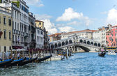 Rialto Bridge, Grand Canal, Venice, Italy - UNESCO World Heritage Site — Stock Photo