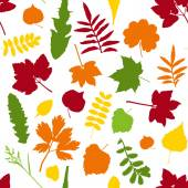 Leaves on seamless background — Stock Vector