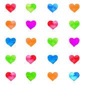Coração aquarela — Vetor de Stock