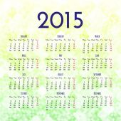 Calendar 2015 design template — Stock Vector