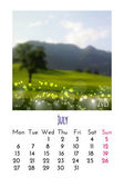 July Calendar 2015 — Stock Vector