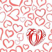 Watercolor red heart — Vector de stock