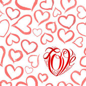 Watercolor red heart — Stockvektor