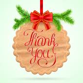 Christmas Thank you card — Stock Vector