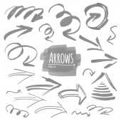 Hand drawn arrow collection — Stock Vector