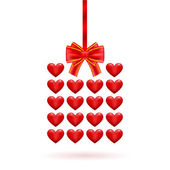 Hearts gift Valentine's day — Stock Vector
