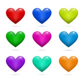 Hearts Valentine's day — Stock Vector