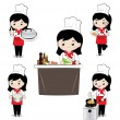 Little girl chef — Stock Vector #58694613