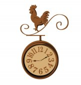 Clock chicken vintage — Stock Vector