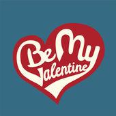 Be My Valentine. — Stock Vector