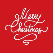 Christmas handwriting typography — Stock Vector