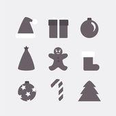 Flat design elements for Christmas — Stockvektor