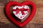 Giften vak hart, de dag van Valentijnskaarten concept — Stockfoto