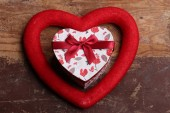 Gifts box heart, valentines day concept — Stock Photo