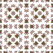 Simple flowers seamless pattern — Stock Vector