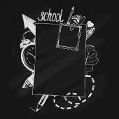 Lavagna di scuola — Vettoriale Stock