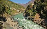 View at Ganga river and Indian Himalayas — Stock Photo