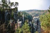 Sandstone rocks in National park — Stock Photo
