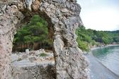 The ruins of the ancient aqueduct at Phaselis — Stock fotografie