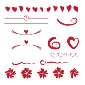 Valentines day ornaments illustration — Vettoriale Stock