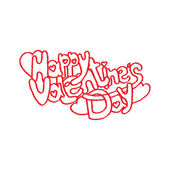 Valentines day funny script illustration — Vettoriale Stock
