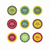 Eco And Bio Labels Collection  — Stock Vector