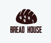 Ilustration of bread house — Stock Vector