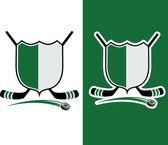 Hockey Sport Crest — Stock Vector