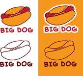 Set of hot dog — Stock Vector