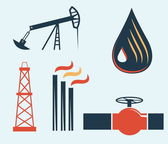 Illustration of oil and gas industry — Stockvector