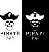 Pirate bar illustration — Stock Vector