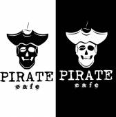 Pirate cafe illustration — Stock Vector