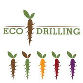 Eco drilling — Stock Vector