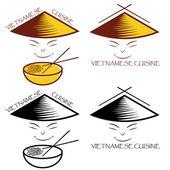 Vietnamese cuisine — Stock Vector