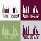 Wine library concept — Stock Vector