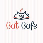 Ilustracja kot kawiarni — Wektor stockowy