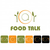 Food talk illustration and icon set — Stock Vector