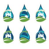 Recycling urban eco icon — Stock Vector