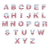 Alphabet created the American flag — Stock Vector