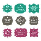 Vector vintage sale label set design elements — Stock Vector