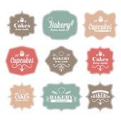Kolekcja vintage retro piekarnia logo etykiet — Wektor stockowy