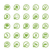 Eco Universal Outline Icons For Web and Mobile  — Stock Vector