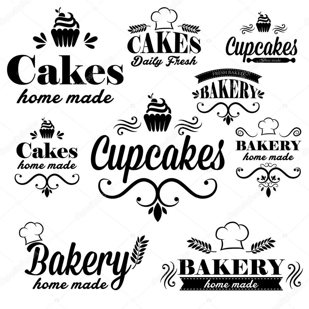 Logos Panaderia Vector Panadería Negro — Vector