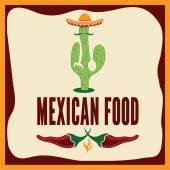 Ilustración de comida mexicana — Vector de stock