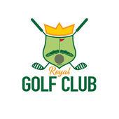 Royal golf club crest — Stock Vector