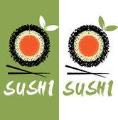 Sushi vector design template — Stock Vector