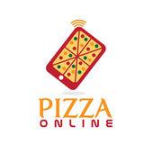 Pizza online conceito flat design — Vetorial Stock